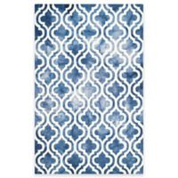 Safavieh Dip Dye Double Trellis 3-Foot x 5-Foot Area Rug in Navy/Ivory