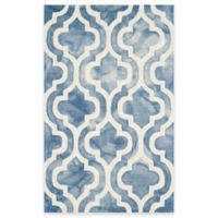 Safavieh Dip Dye Double Trellis 3-Foot x 5-Foot Accent Rug in Blue/Ivory