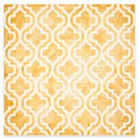 Safavieh Dip Dye Double Trellis 7-Foot Square Area Rug in Gold/Ivory