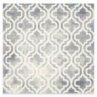 Safavieh Dip Dye Double Trellis 7-Foot Square Area Rug in Grey/Ivory