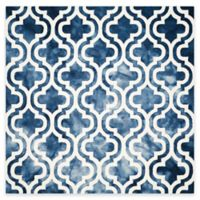 Safavieh Dip Dye Double Trellis 7-Foot Square Area Rug in Navy/Ivory
