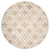 Safavieh Dip Dye Double Trellis 7-Foot Round Area Rug in Beige/Ivory