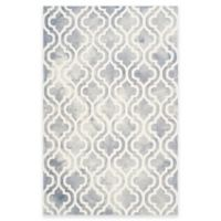 Safavieh Dip Dye Double Trellis 6-Foot x 9-Foot Area Rug in Grey/Ivory