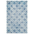 Safavieh Dip Dye Double Trellis 6-Foot x 9-Foot Area Rug in Blue/Ivory