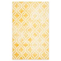 Safavieh Dip Dye Double Trellis 6-Foot x 9-Foot Area Rug in Gold/Ivory