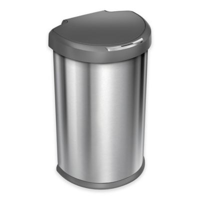 buy brushed stainless steel trash cans from bed bath & beyond