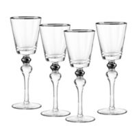 Qualia Dominion Wine Glasses in Platinum (Set of 4)