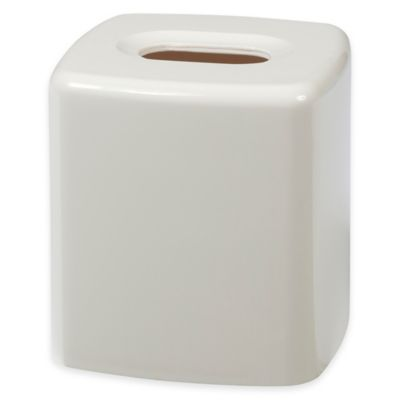 gems boutique tissue box cover in white