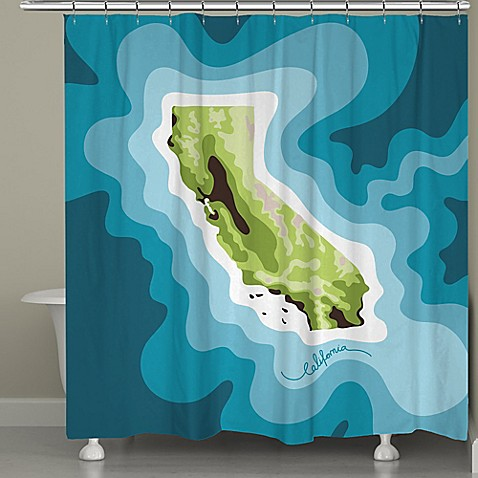 California Map Shower Curtain Bed Bath And Beyond
