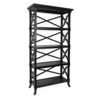 Wayborn Charter 4-Shelf Bookstand in Black