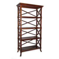 Wayborn Charter 4-Shelf Bookstand in Brown