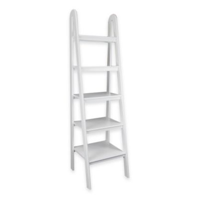 Wayborn Ladder Storage Shelf in White  sc 1 st  Bed Bath u0026 Beyond & Buy Five Shelf Bookcases from Bed Bath u0026 Beyond