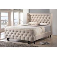 Baxton Studio Francesca Platform King Bed and Bench Set in Beige