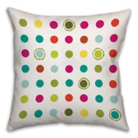 Colorful Circles 16-Inch Square Throw Pillow