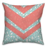 Coral Dalmatian 18-Inch Square Throw Pillow in Pink/Blue
