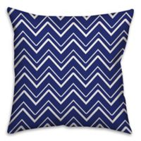 Chevron Stripe 16-Inch Square Throw Pillow in Royal Blue