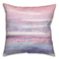Watercolor Stripes 18-Inch Square Throw Pillow in Pink