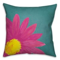 Pink Daisy 16-Inch Square Throw Pillow