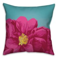 Luscious Bloom 16-Inch Square Throw Pillow