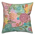 Pastel Patchwork 18-Inch Square Throw Pillow