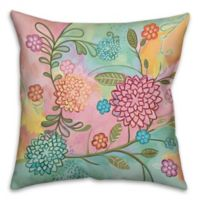 Pastel Patchwork 16-Inch Square Throw Pillow