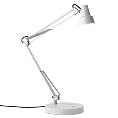 Attractive Adesso Quest LED Desk Lamp In White