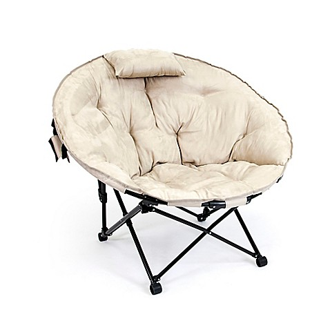 Folding Moon Chair In Khaki Bed Bath Amp Beyond