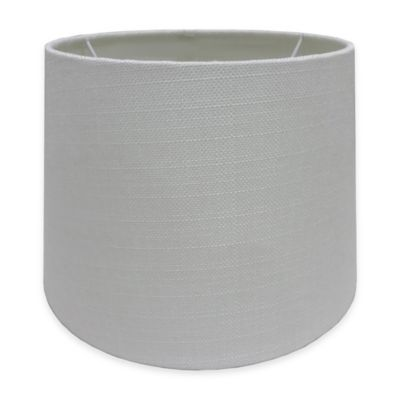 Buy lamp shades from bed bath beyond adesso paris 10 inch textured fabric drum lamp shade in white aloadofball Choice Image