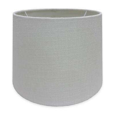 Adesso® Paris 10 Inch Textured Fabric Drum Lamp Shade In White
