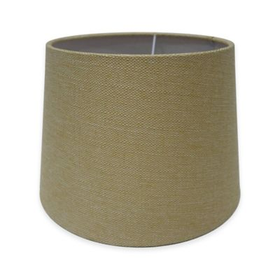 Adesso Paris 10-Inch Textured Fabric Drum Lamp Shade in Cream
