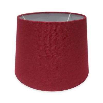 Adesso Paris 10-Inch Textured Fabric Drum Lamp Shade in Red
