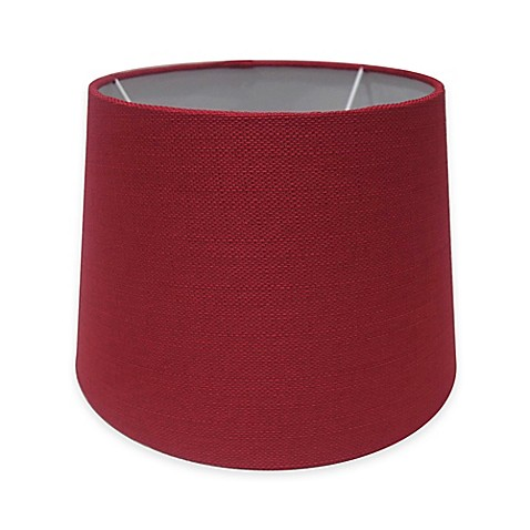 buy adesso paris 10 inch textured fabric drum lamp shade in red from. Black Bedroom Furniture Sets. Home Design Ideas
