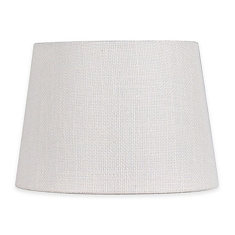 buy adesso 10 inch burlap fabric drum lamp shade in white. Black Bedroom Furniture Sets. Home Design Ideas