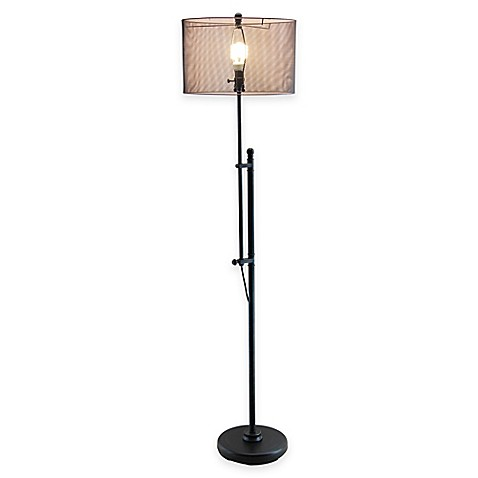 Normande lighting bleeker adjustible floor lamp in dark for Normande rustic floor lamp