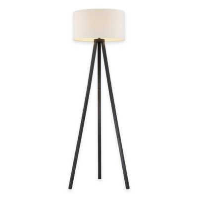 Buy tripod lamp from bed bath beyond adesso anderson tripod floor lamp in black wood grain audiocablefo