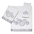 Avanti Mosaic Circle Hand Towel in White