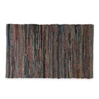 Chindi 2-Foot x 3-Foot Hand-Woven Kitchen Rug in Grey