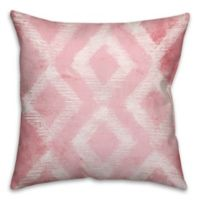 Triangles 18-Inch Throw Pillow in Pink