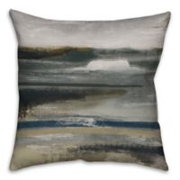 Neutral Abstract 16-Inch Square Throw Pillow in Grey/Brown
