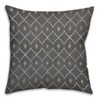 Metallic Diamonds 16-Inch Square Throw Pillow in Grey/Green