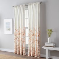 Meadow 95-Inch Rod Pocket Window Curtain Panel in Coral