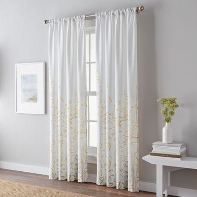Meadow 108 Inch Rod Pocket Window Curtain Panel In Yellow