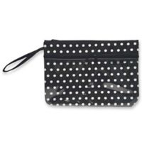 Polka Dot Swimsuit Sack in Black/White