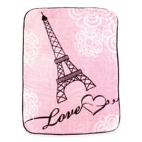 BabyVision® Luvable Friends® High Pile Paris Plush Blanket in Pink