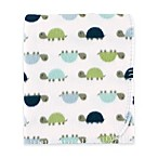 BabyVision® Luvable Friends® Turtles Printed Fleece Blanket in Blue