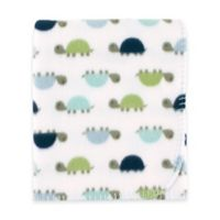 BabyVision® Luvable Friends® Turtles Printed Fleece Blanket in Blue
