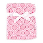 BabyVision® Luvable Friends® Clover Coral Fleece Blanket in Pink