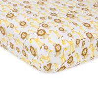 MiracleWare Giraffes and Lions Muslin Crib Sheet