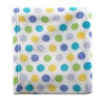 BabyVision® Luvable Friends® Dot Coral Fleece Receiving Blanket in Blue