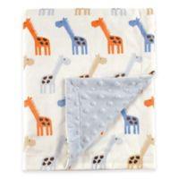 BabyVision® Hudson Baby® Giraffe Mink Blanket in Blue